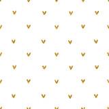 Wzór serca złoty brokat - 124039774