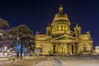 Christmas St. Petersburg. St. Isaac's Cathedral night view
