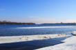 River Dnieper on winter