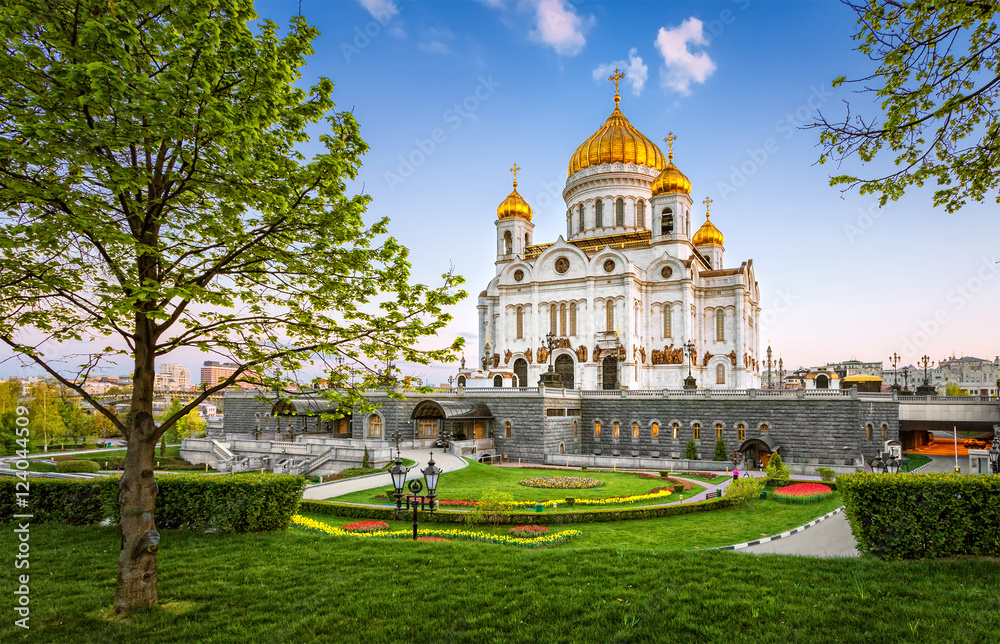 Fototapety, obrazy: Christ the Savior Cathedral at evening
