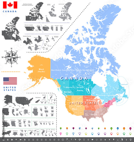 Map Of Western Canada Provinces.United States Census Bureau Regions Ans Divisions Map Canadian