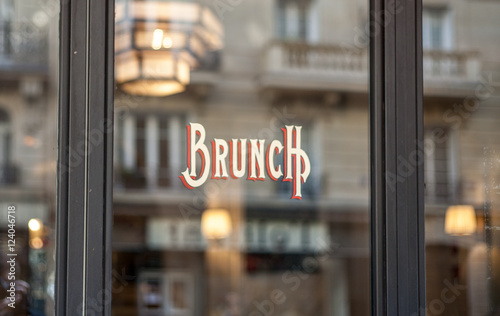 Bistro banner in Paris