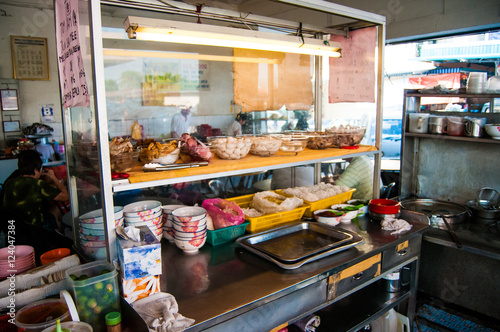 Aluminium Prints Buffet, Bar Food Stand In A Restaurant