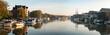 canvas print picture - panarame Freizeithafen der Stadt Leer Ostfriesland, Landschaften und Natur in Ostfriesland