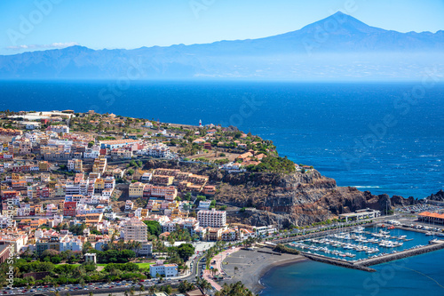 Tableau sur Toile La Gomera, San Sebsatian, Teide