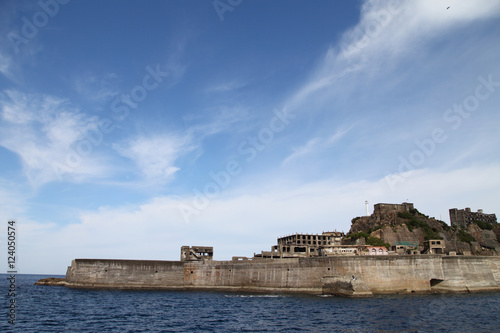 Gunkanjima - Battleship Island in Nagasaki, Japan (UNESCO World Heritage) Canvas Print