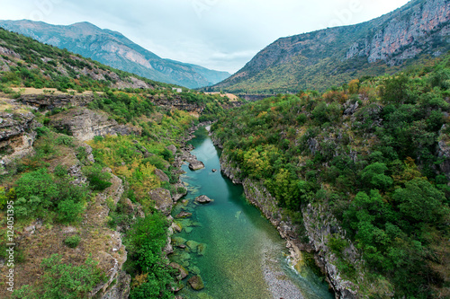 Fotobehang Canyon Morača river canyon at summertime, nature landscape. Montenegro