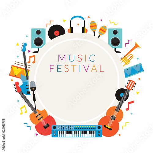 Music Instruments Objects Frame Background, Festival, Event, Live ...