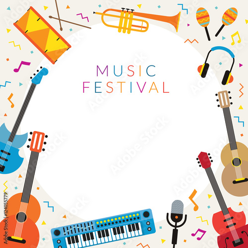 Music Instruments Objects Frame, Festival, Event, Live, Concert ...