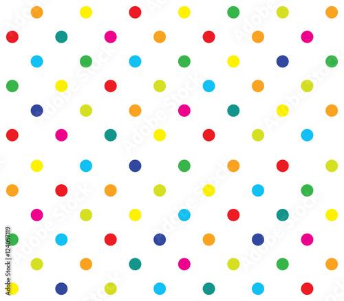 Fototapeta Vector seamless polka dot girl kids pattern obraz na płótnie
