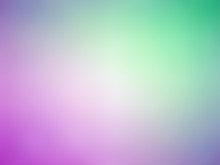 Abstract Gradient Purple Green White Colored Blurred Background