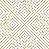 Geometryczny bezszwowy wzór złociste srebne linie ukośne lub uderzenia, abstrakcjonistyczny bezszwowy tło złoty srebrzysty romb, kwadrat, wektor dla papieru, karta, zaproszenie, opakowanie, tkanina, projektowanie stron internetowych - 124061522
