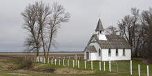 A White Church In A Rural Area...