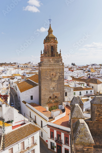 View Over Town Centre To Church Of San Bartolome; Carmona, Seville Province,Spain