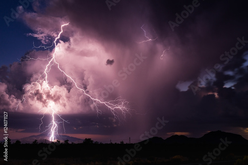 Photo sur Toile Tempete Thunderstorm lightning