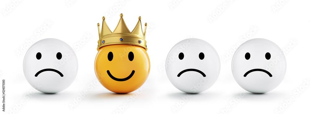 Fototapeta Smiley mit Krone und Freunden 3