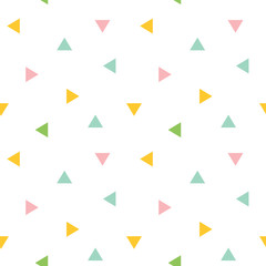 FototapetaCute colorful geometric, triangle seamless pattern background.