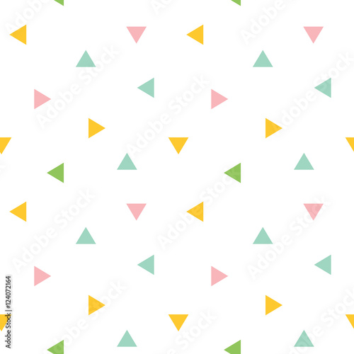 fototapeta na ścianę Cute colorful geometric, triangle seamless pattern background.