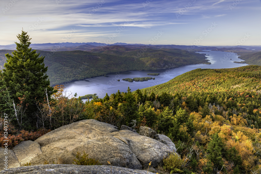 Fototapety, obrazy: Lake George from Black Mountain Lookout