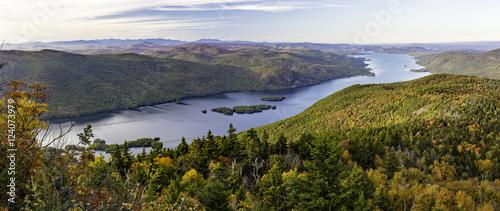 Lake George Autumn Panorama from Black Mountain Canvas-taulu