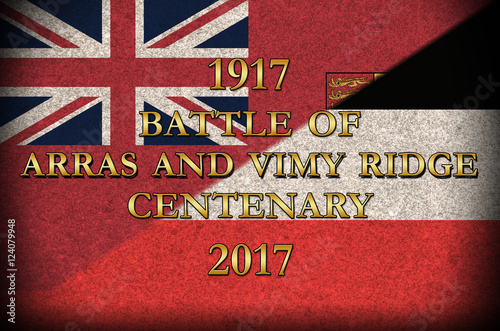 Grunge Style  World War 1 Battle of Arras and Vimy Ridge
