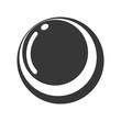 balloon gym equipment isolated icon vector illustration design