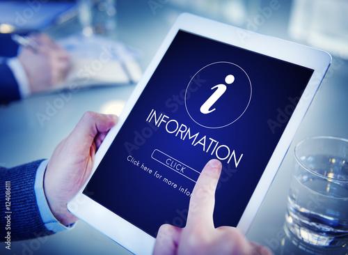 Fotografie, Obraz  Information Help Faq Letter Icon Concept