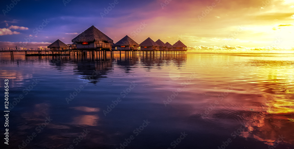 Fototapeta Tahiti ressort