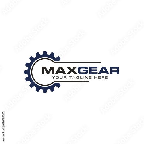 Fotobehang Retro Gear logo creative design vector