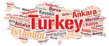 Turkey Top Travel Destinations Word Cloud