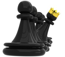 3D Black Pawn And One With A G...