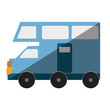 van vehicle transport isolated icon vector illustration design