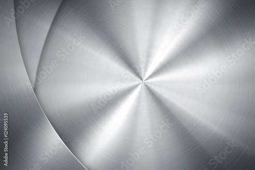 Deurstickers Metal polished metal design background