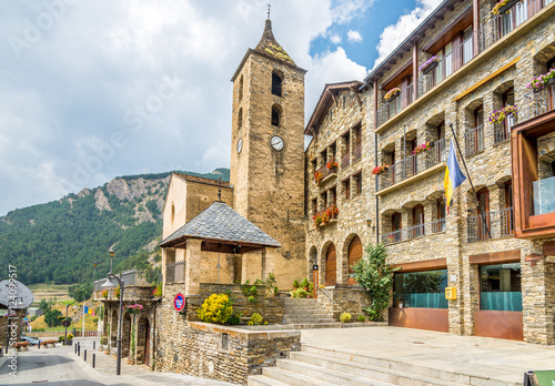 Church of Sant Corneli and Cebria in Ordino - Andorra Wallpaper Mural