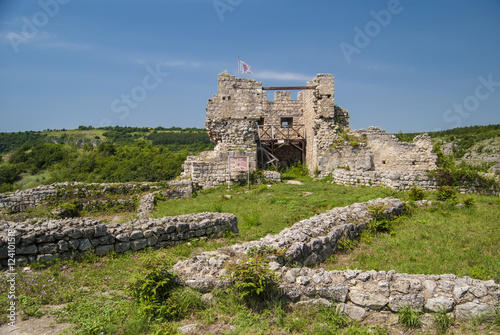 Foto op Aluminium Rudnes The ruins of the Cherven medieval fortress near Rousse, Bulgaria