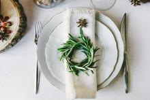 Decorative Green Wreath On A N...