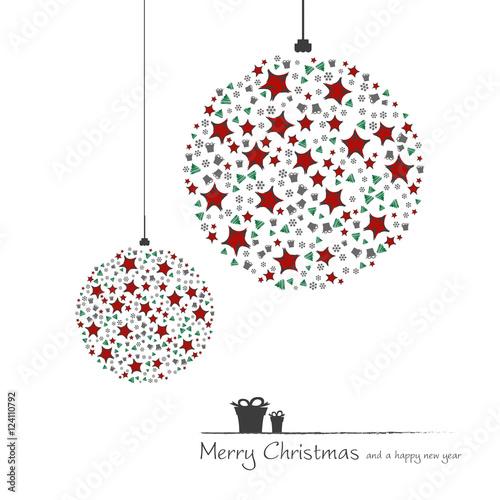 Christbaumkugeln Sterne.Christbaumkugeln Mit Sternen Und Geschenken Modern Merry