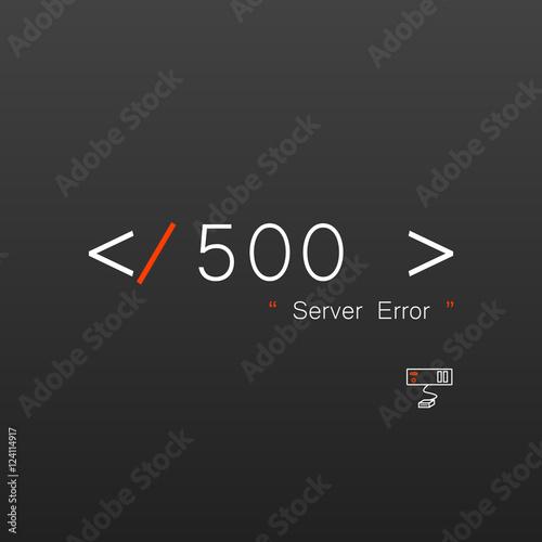 Fotografering  Vectors Abstract background 500 connection error server