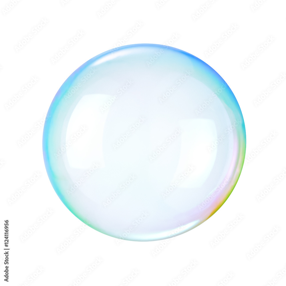 Fototapety, obrazy: Soap bubble on a white background