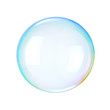 canvas print picture - Soap bubble on a white background