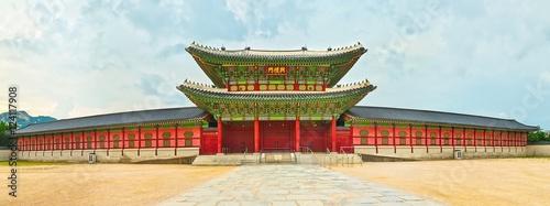 Zdjęcie XXL Gyeongbokgung Palace. Korea Południowa. Panorama