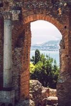 Detail View Of Taormina, Sicily, Italy