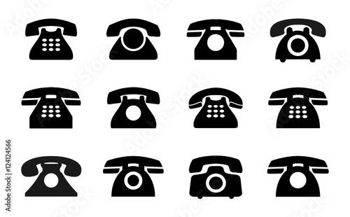 telefon ikona - fototapety na wymiar