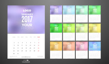 Wall Monthly Calendar 2017 Wit...
