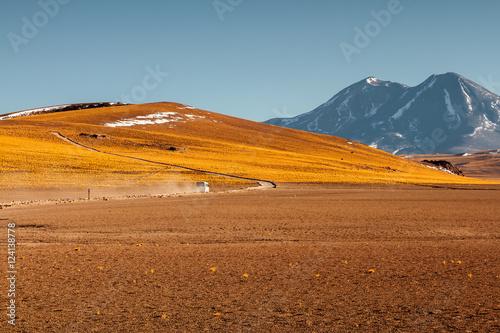 Spoed Foto op Canvas Droogte Lagunas Altiplanicas. San Pedro de Atacama