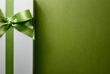 Closeup Gift Box On Green