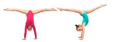Flexible Kids Gymnasts Standin...