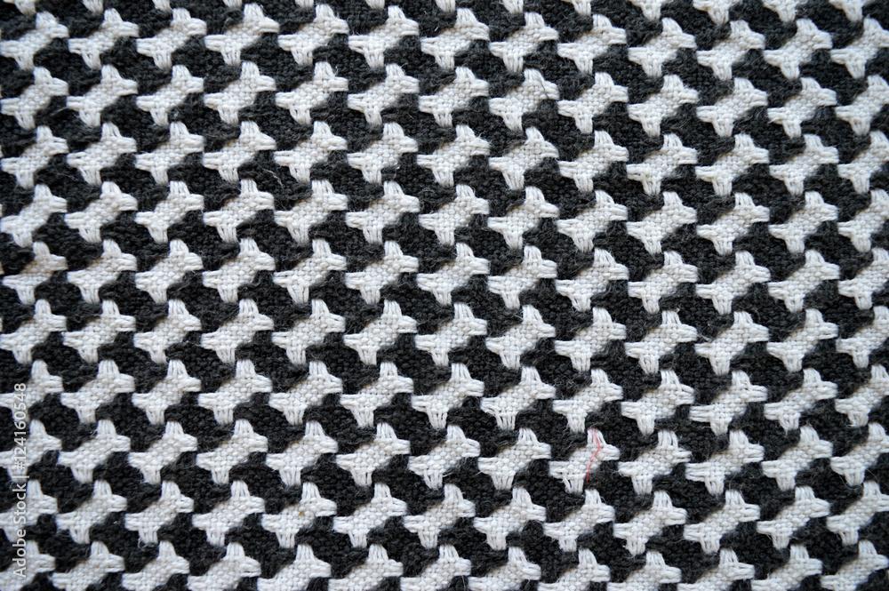 Fotografía Bones / houndstooth knitted carpet background ...
