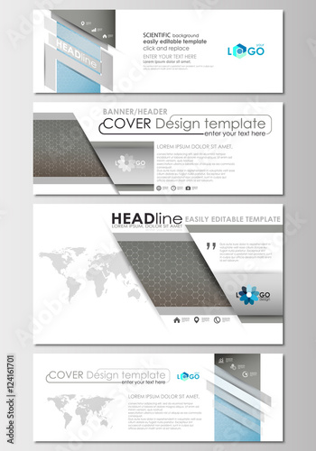Social media and email headers set modern banners business social media and email headers set modern banners business templates cover template altavistaventures Images