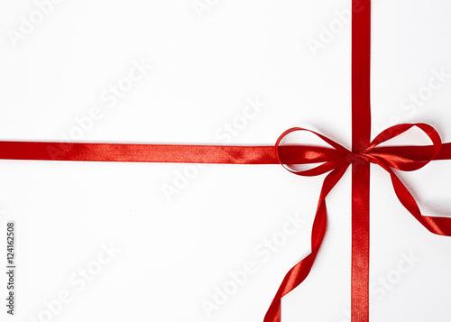 Fotografia  regalo fiocco rosso natale capodanno
